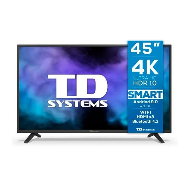 Td systems k45dlj12us televisor plata smart tv 45'' uhd 4k hdr
